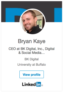 Bryan Kaye LinkedIn